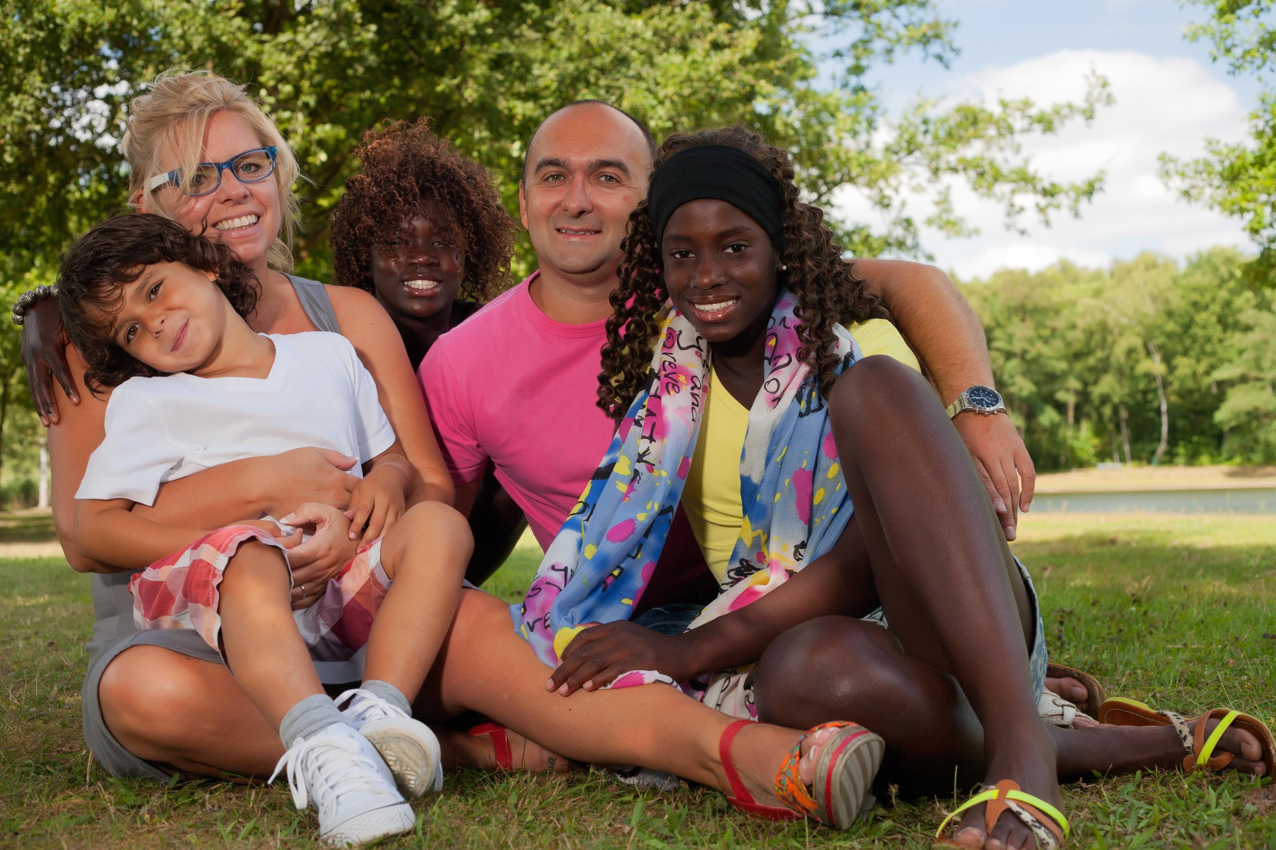 interracial adoptive family