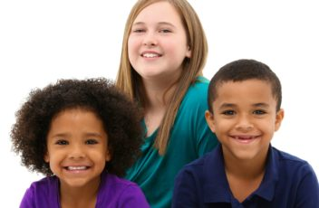 Multi-racial Family Portrait Children Only